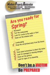 If you're a property owner, you probably dread the thought of having water damage or mold damage. Most water and mold damage can be avoided by simply knowing what to do and doing it. Here's a list of the major reasons that allow water damage to occur. Basement - Test your sump pump by pouring water into it to see if the pump works and pumps the water out. - Look for cracks in the walls and floors - Clean out the window wells and put plastic covers on the window wells Landscaping -Make sure that the soil is pitched away from your home to diver the water away -If your landscaping is made from timbers or railroad ties, make sure the water can drain out of them. Roof -Put down spout extenders on your down spouts to divert the water away from the house. -Look for damaged or missing shingles that would allow water to come in. -Clean out the gutters so the water can flow to the down spouts, instead of overflowing next to the house. -Look for signs of ice damming